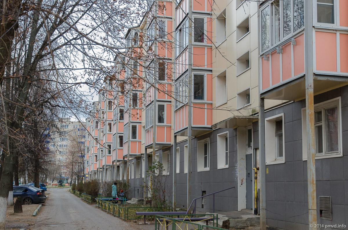 Обновленные пятиэтажки в городе Чехов