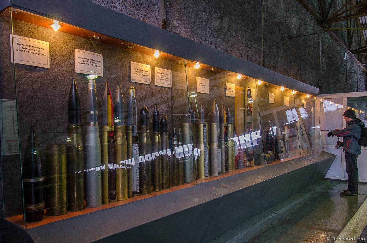 Образцы снарядов в танковом музее в Кубинке