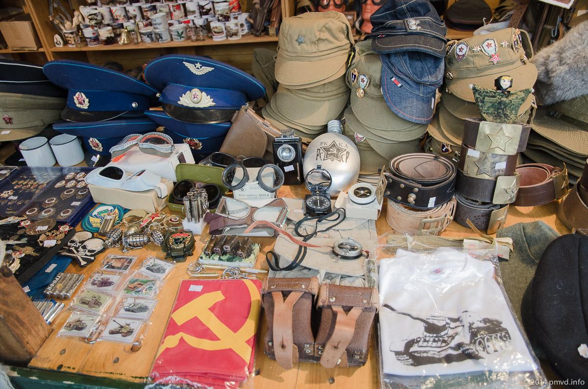 Сувениры в танковом музее Кубинки