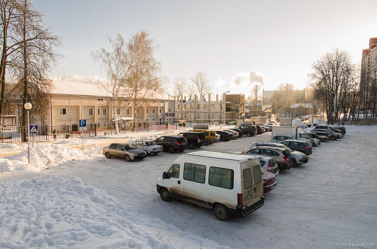 Парковка у Красногорского лыжного стадиона