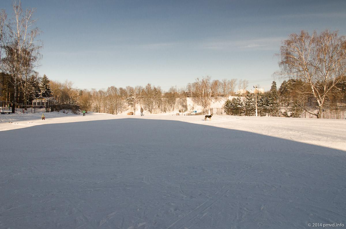 Стартовая площадка у Красногорского лыжного стадиона