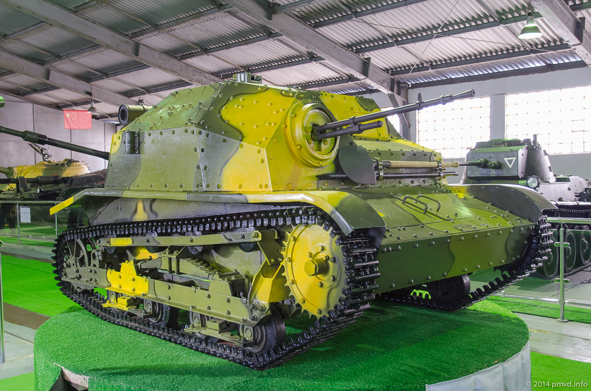 Танкетка TKS в танковом музее Кубинки