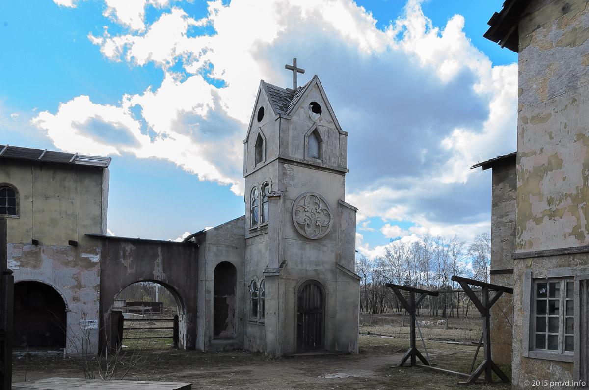 Церковь в киногороде Пилигрим Порто