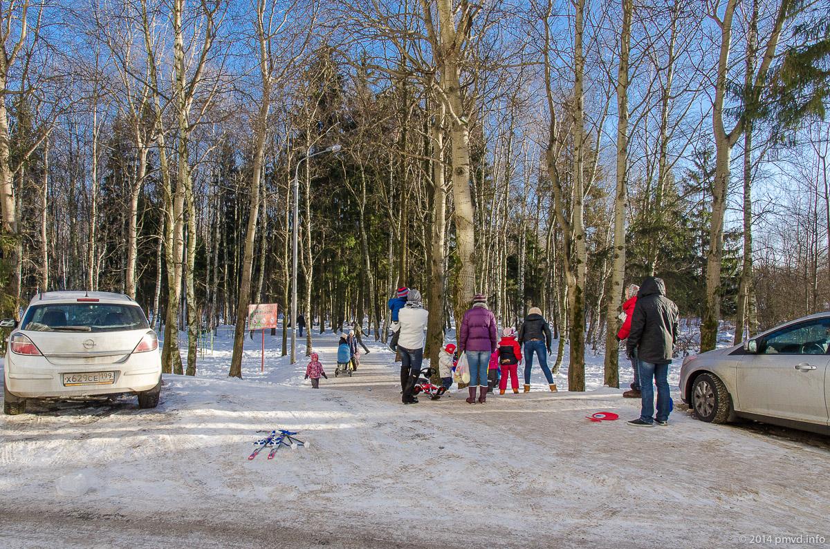 Вход на лыжню в Трехгорке
