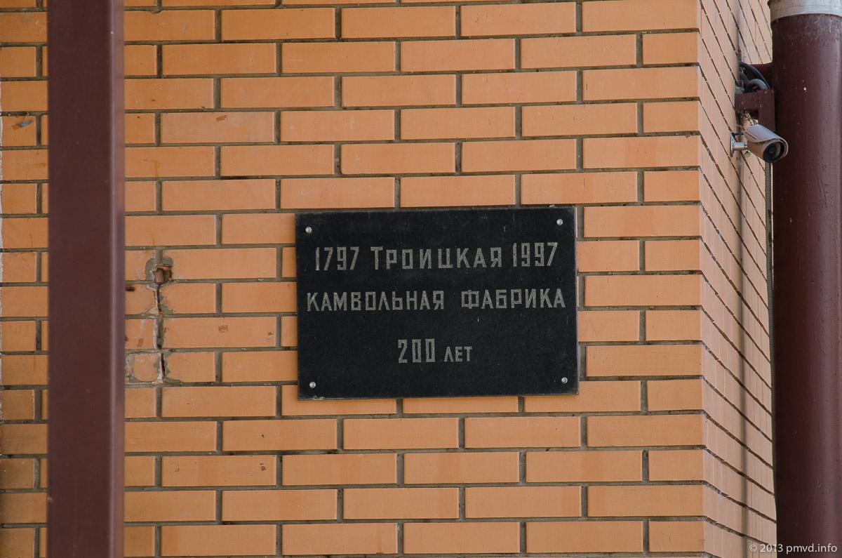 Троицк. Камвольная фабрика