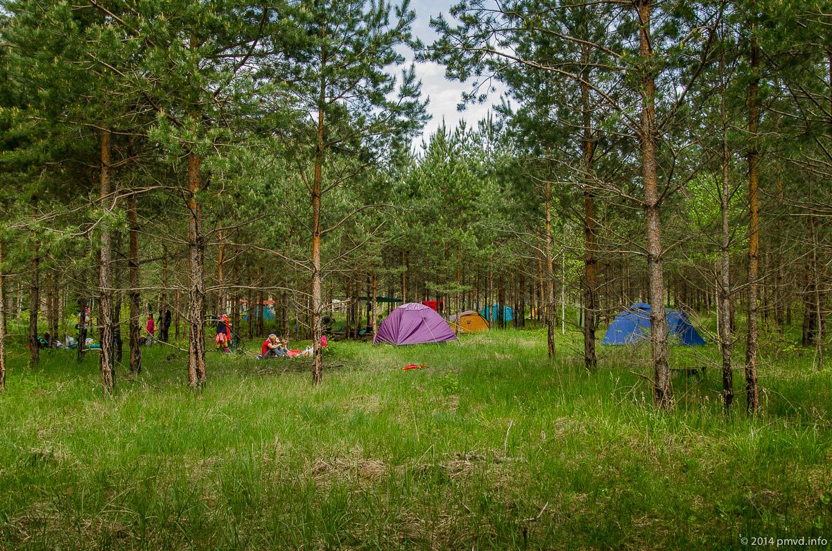 Слет Туристят - лагерь