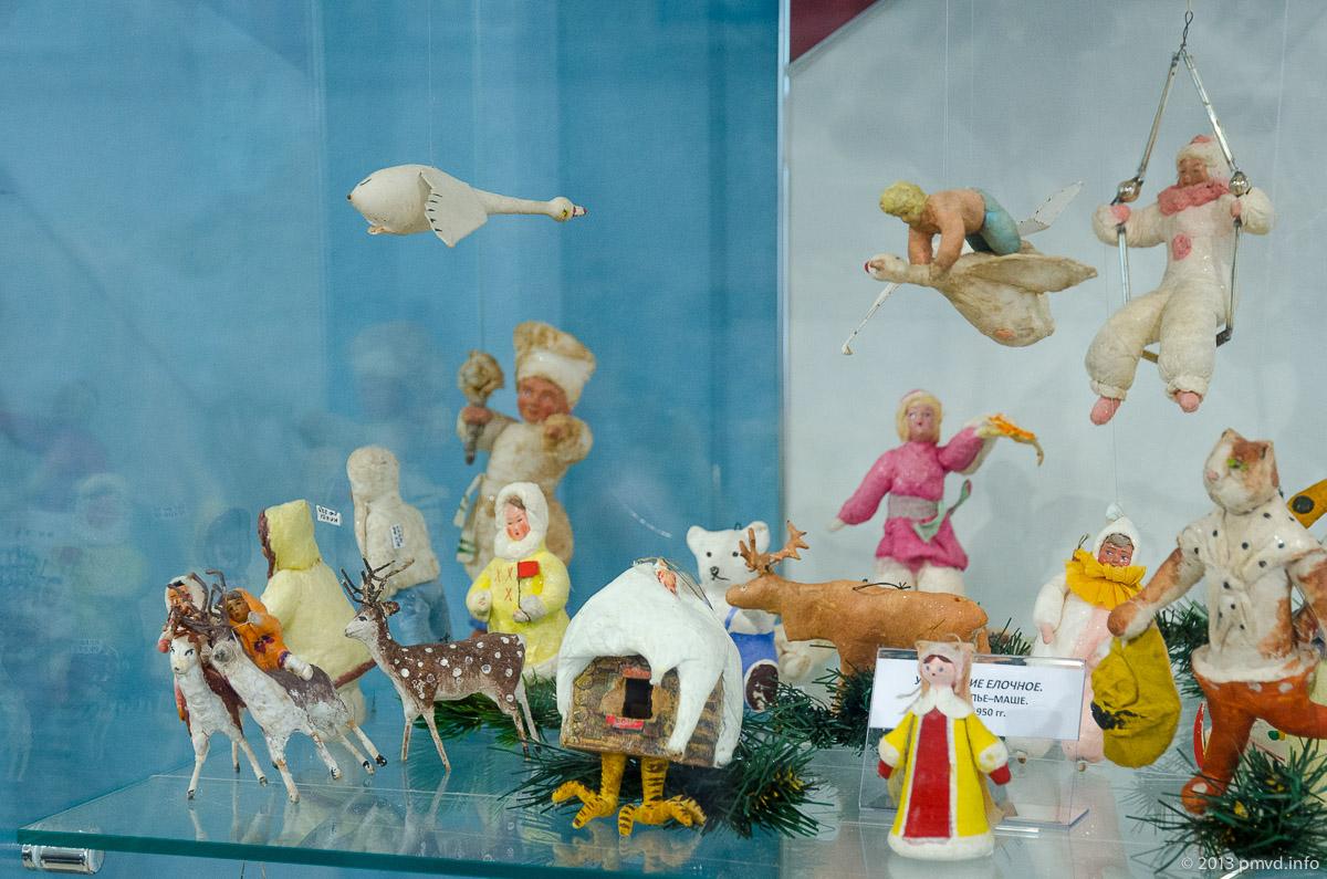Елочные игрушки из папье-маше